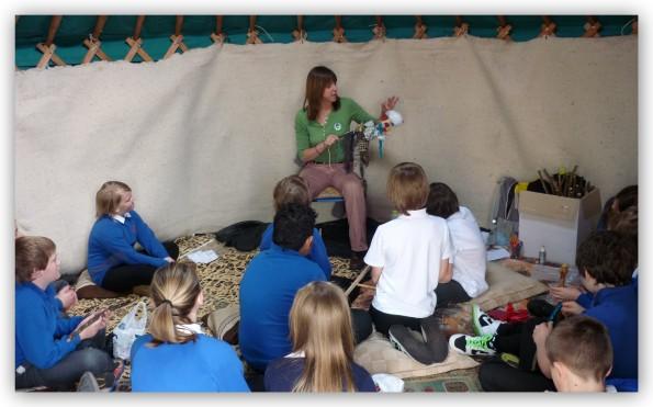storytelling in yurt