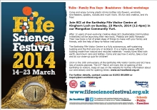 scan of the Fife Science Festival 2014 poster