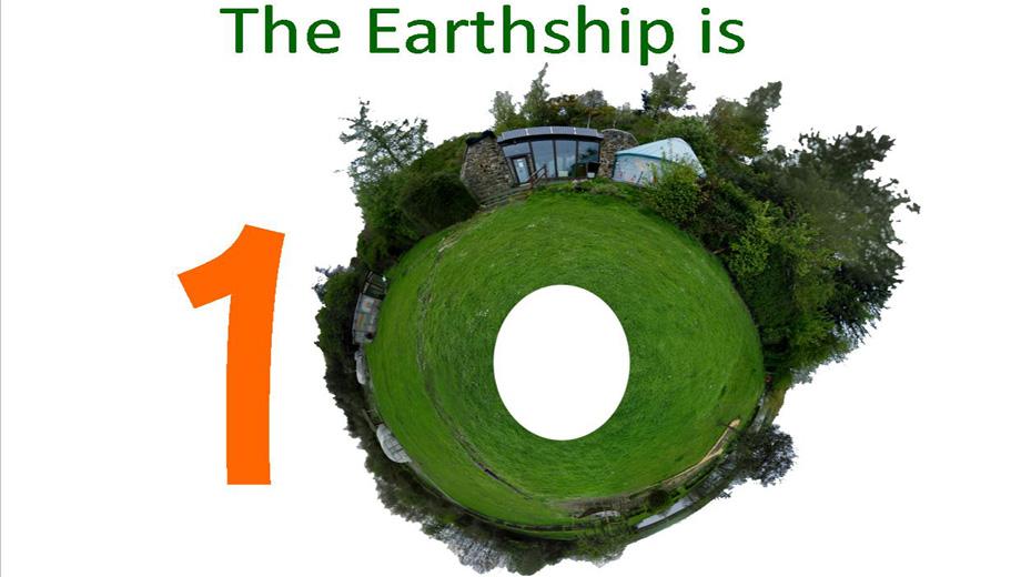 Earthship Fife 10th birthday logo