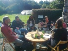 Photo of music group at Earthship Fife