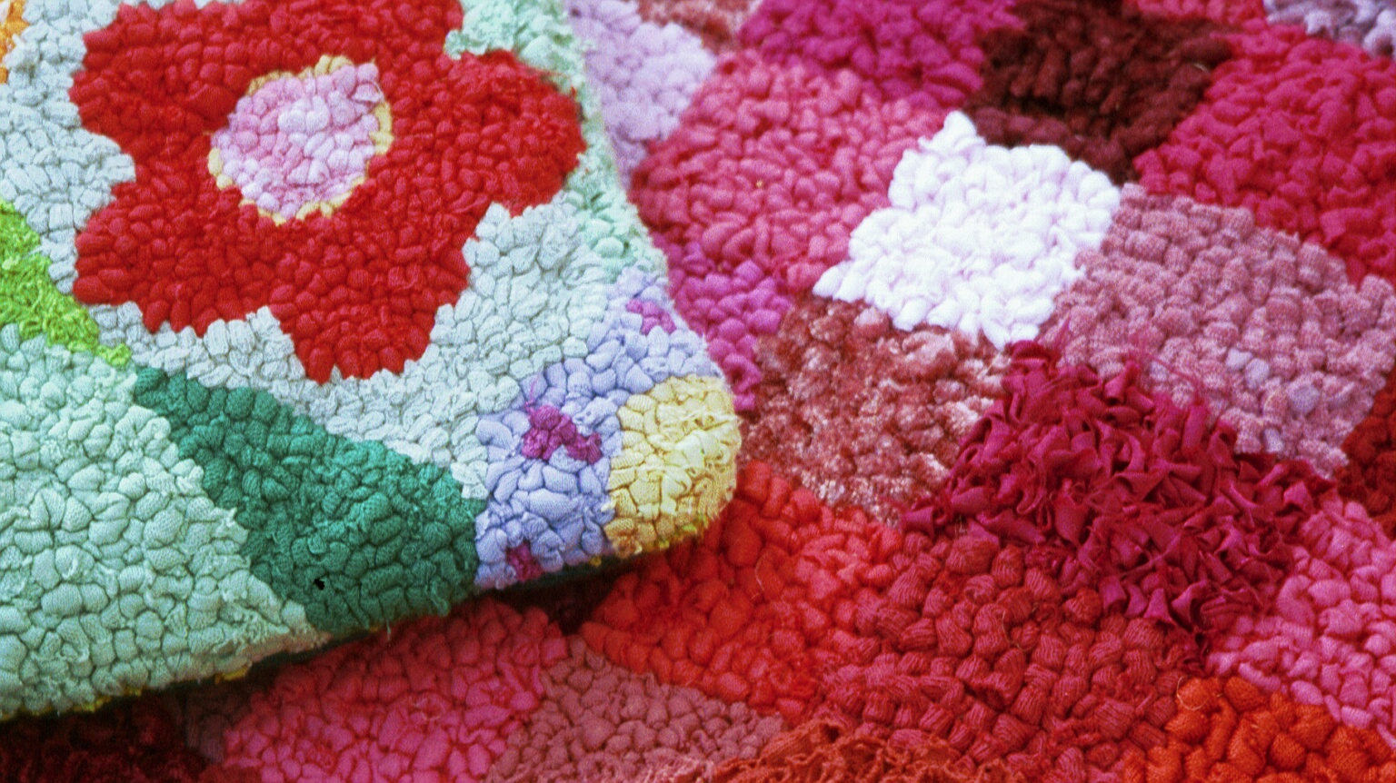 Picture of rag rug cushion and squares