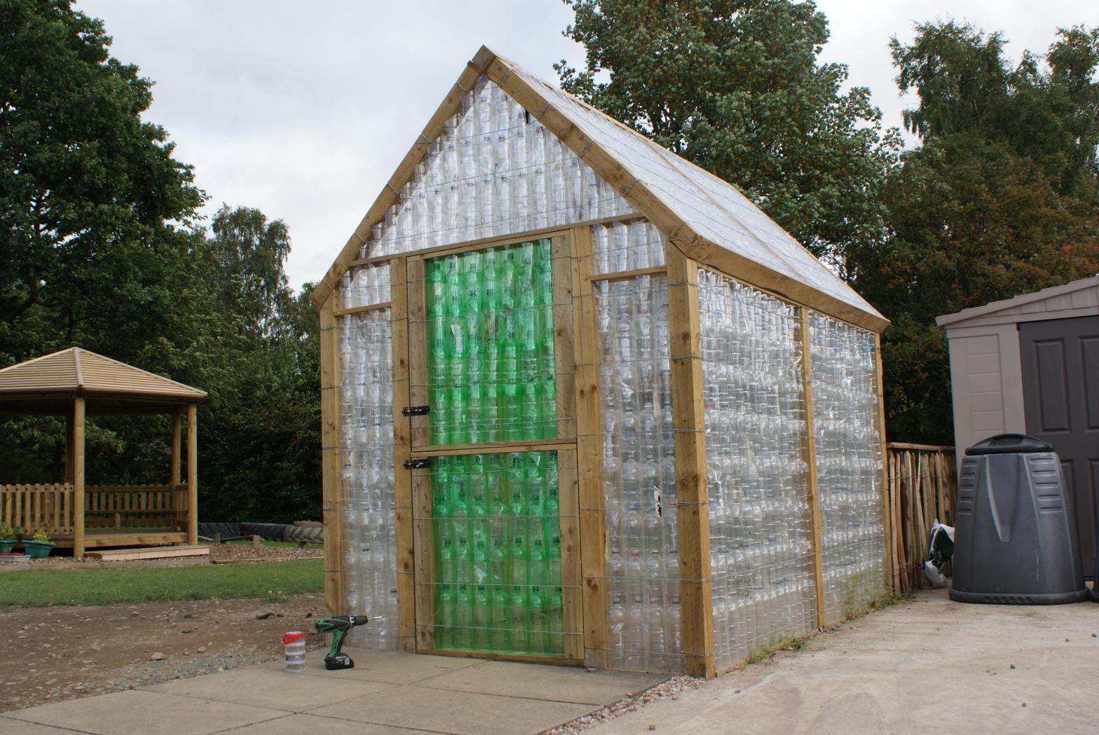 Plastic bottle greenhouse pic