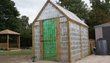 Plastic bottle greenhouse pic