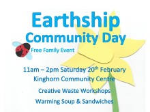 Cropped Earthship Community Day poster